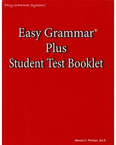 Easy Grammar Plus Student Test Booklet