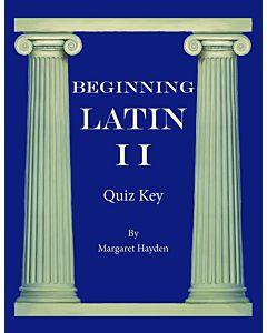 Beginning Latin II - Quiz Key