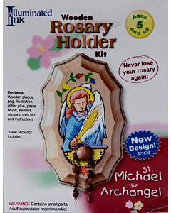 Wooden Rosary Holder Kit  St Michael the Archangel