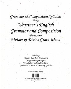 Grammar & Composition Syllabus (Warriner's 3rd Course)
