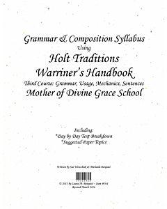 Grammar Syllabus (Holt Traditions)