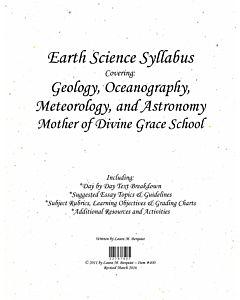 Earth Science Syllabus
