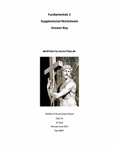 Fundamentals of Latin Grammar 1 - Supplemental Worksheets Answer Key