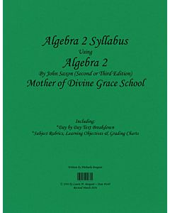 Algebra II Syllabus (Saxon 2nd Edition)