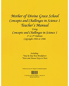 Concepts and Challenges in Science Book 1/5th Grade Science Teacher's Manual