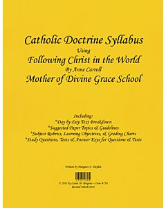 Catholic Doctrine Syllabus