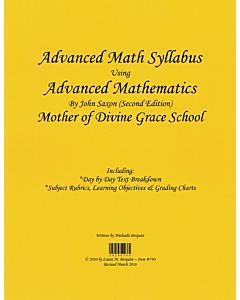Advanced Math Syllabus (Saxon 2nd Edition)