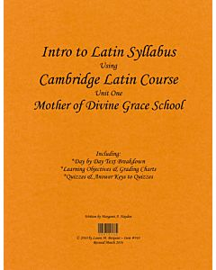 Intro to Latin Syllabus (Cambridge Fourth Edition - Unit 1)