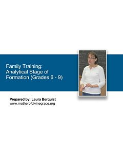 Stages of Formation: Analytical Stage