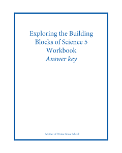 Exploring the Building Blocks of Science 5 Workbook Answer Key