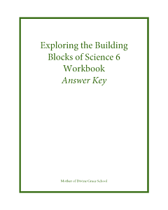 Exploring the Building Blocks of Science 6 Workbook Answer Key