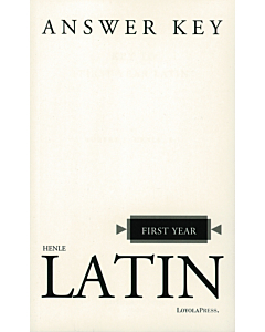 First Year Latin Answer Key