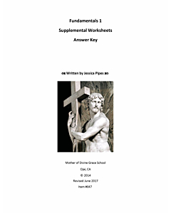 Fundamentals of Latin Grammar 1 - Supplemental Worksheets Answer Key