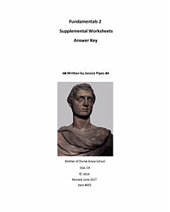 Fundamentals of Latin Grammar 2 - Supplemental Worksheets Answer Key