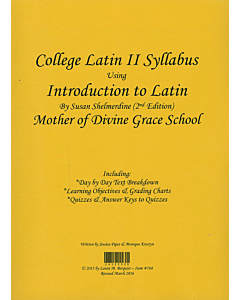 College Latin II Syllabus (Shelmerdine