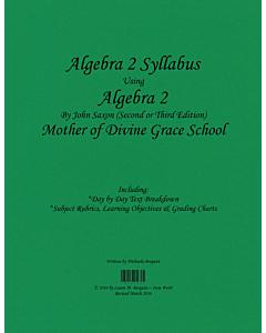 Algebra II Syllabus (Saxon 2nd Edition)