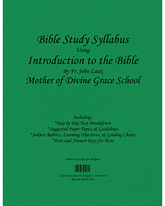 Bible Study Syllabus