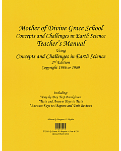 Concepts and Challenges in Earth Science Teacher's Manual