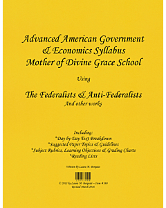 Advanced American Government & Economics Syllabus