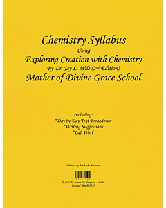 Chemistry Syllabus (Exploring Creation with Chemistry 2nd Edition)