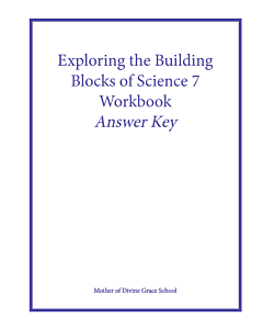 Exploring the Building Blocks of Science 7 Workbook Answer Key