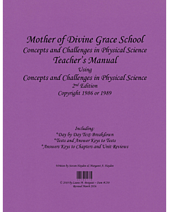 Concepts and Challenges in Physical Science Teacher's Manual
