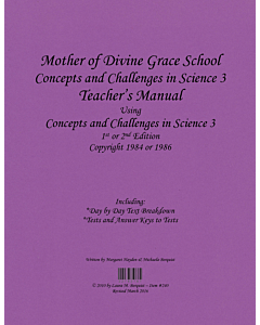 Concepts and Challenges in Science Book 3/8th Grade Science Teacher's Manual