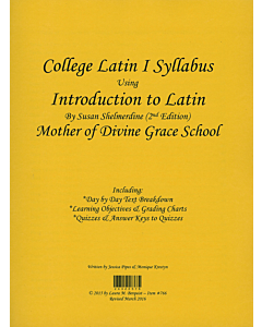 College Latin I Syllabus (Shelmerdine