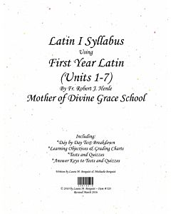 Latin I Syllabus (Henle First Year Latin - Units 1-7)