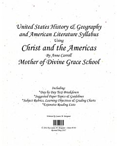US History & American Literature Syllabus