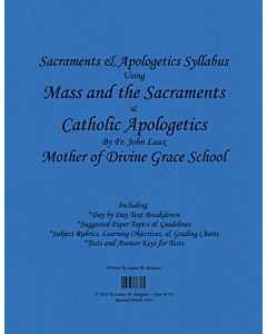 Sacraments & Apologetics Syllabus
