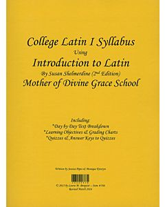 College Latin I Syllabus (Shelmerdine
