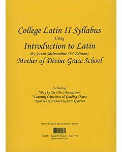 College Latin II Syllabus (Shelmerdine