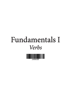 Fundamentals 1 Vocabulary Cards - Verbs