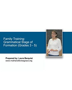 Stages of Formation: Grammatical Stage