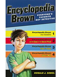 Encyclopedia Brown (Boy Detective, The Case of the Secret Pitch, Finds the Clues, and Gets His Man) - Box Set