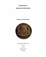 Fundamentals of Latin Grammar 1 - Supplemental Worksheets